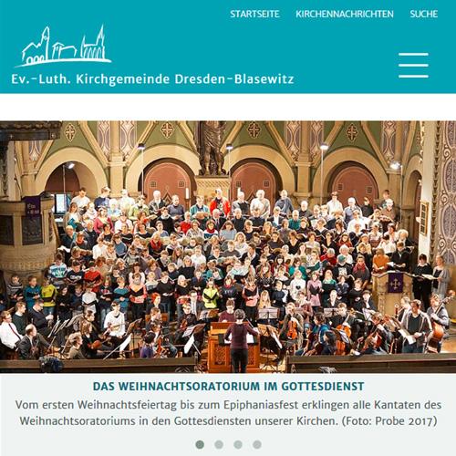 Website Kirchgemeinde Dresden-Blasewitz