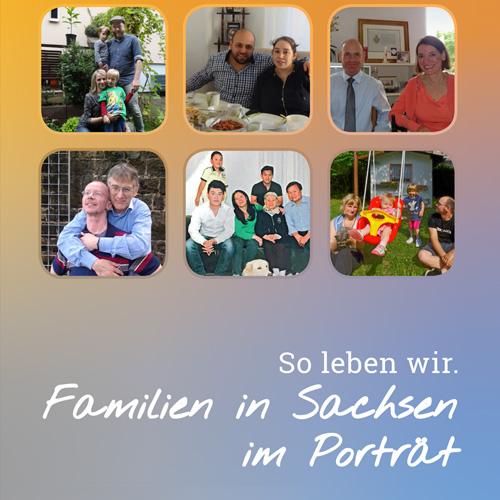 """Rollups und Broschüre zur Ausstellung """"Familien in Sachsen im Porträt"""""""