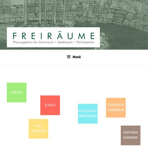 Website Freiräume planen