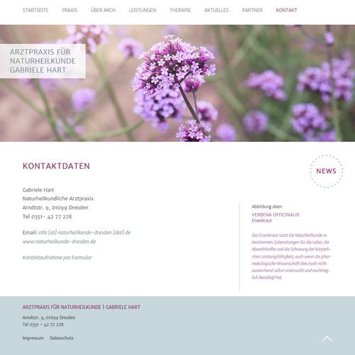 Website Arztpraxis für Naturheilkunde