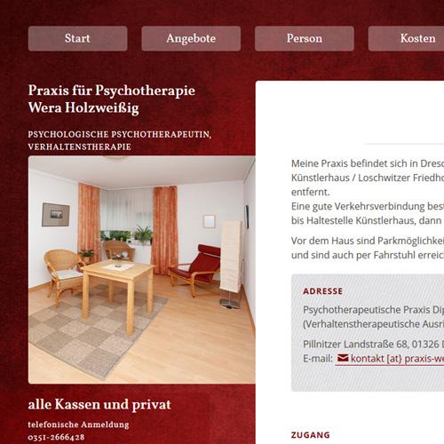 Website Praxis Wera Holzweißig