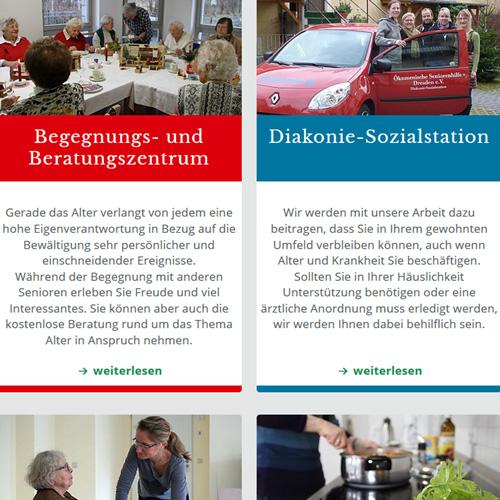 Website Ökumenische Seniorenhilfe