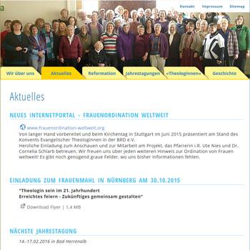 Website Theologinnenkonvent